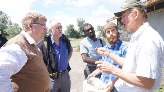 Alan explains the process to some guests and Johnni of GrowthAfrica, our newest Director